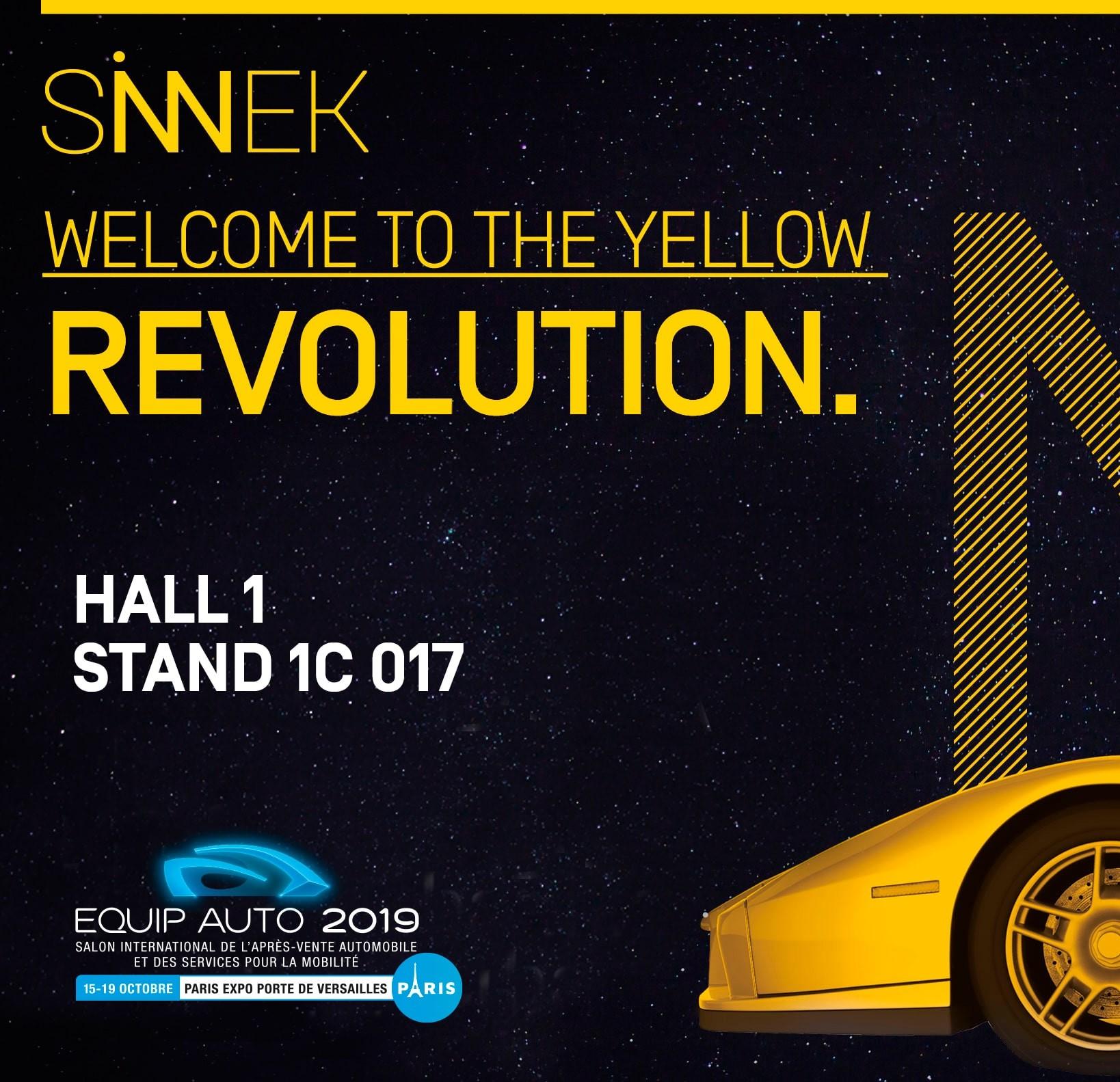 SINNEK estará en la Feria EquipAuto 2019